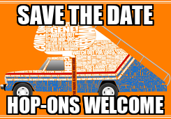 Poster: SAVE THE DATE HOP-ONS WELCOME