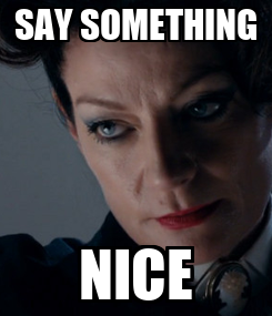 Poster: SAY SOMETHING NICE