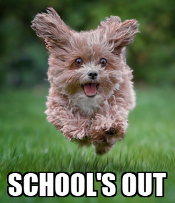 Poster:  SCHOOL'S OUT