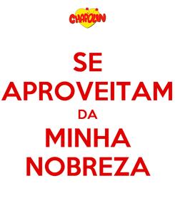 Poster: SE APROVEITAM DA MINHA NOBREZA