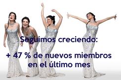 Poster:  Seguimos creciendo:   + 47 % de nuevos miembros  en el último mes