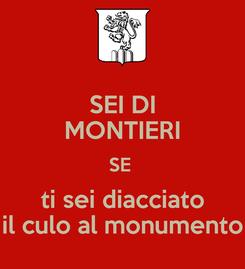 Poster: SEI DI MONTIERI SE  ti sei diacciato il culo al monumento