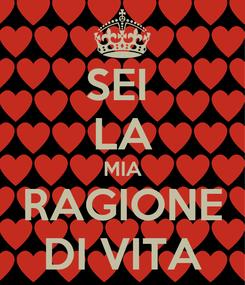 Poster: SEI  LA MIA RAGIONE DI VITA