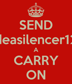 Poster: SEND deasilencer12 A CARRY ON