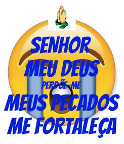 Poster: SENHOR  MEU DEUS PERDÕE-ME MEUS PECADOS ME FORTALEÇA