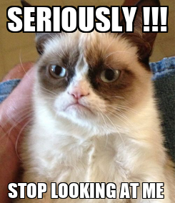 Poster: SERIOUSLY !!! STOP LOOKING AT ME