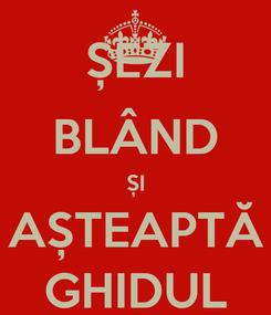 Poster: ȘEZI BLÂND ȘI AȘTEAPTĂ GHIDUL