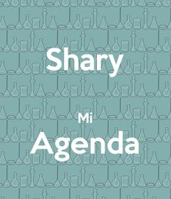 Poster: Shary  Mi Agenda