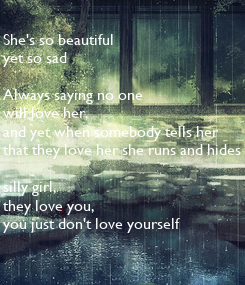 Poster: She's so beautiful