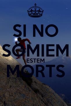 Poster: SI NO SOMIEM ESTEM MORTS