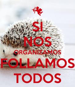 Poster: SI NOS ORGANIZAMOS FOLLAMOS TODOS