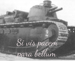 Poster:    Si vis pacem para bellum