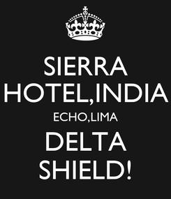 Poster: SIERRA HOTEL,INDIA ECHO,LIMA DELTA SHIELD!