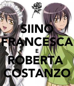 Poster: SIINO FRANCESCA E ROBERTA  COSTANZO