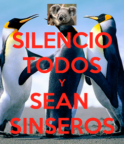 Poster: SILENCIO TODOS Y SEAN  SINSEROS