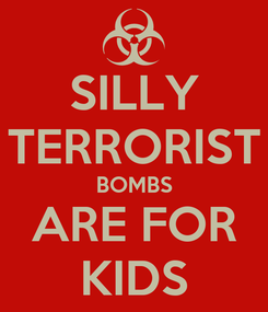 Poster: SILLY TERRORIST BOMBS ARE FOR KIDS