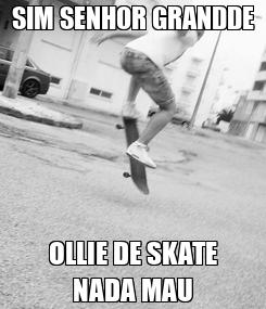 Poster: SIM SENHOR GRANDDE OLLIE DE SKATE NADA MAU