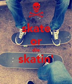 Poster: skate or die skatin'
