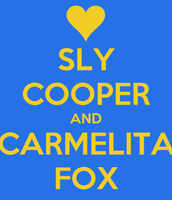 Poster: SLY COOPER AND CARMELITA FOX
