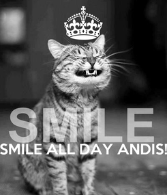 Poster:     SMILE ALL DAY ANDIS!