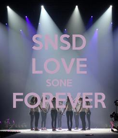 Poster: SNSD LOVE SONE FOREVER