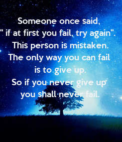 Poster: Someone once said, 