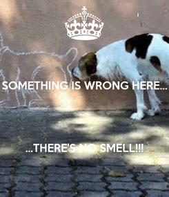 Poster: SOMETHING IS WRONG HERE...    ...THERE'S NO SMELL!!!