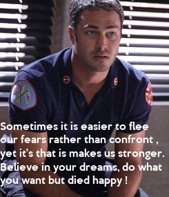 Poster: Sometimes it is easier to flee 