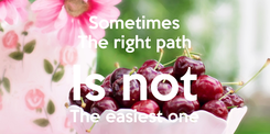 Poster: Sometimes The right path Is not The easiest one