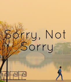 Poster: Sorry, Not  Sorry