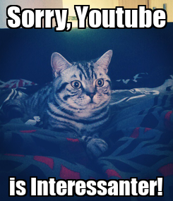Poster: Sorry, Youtube is Interessanter!