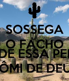 Poster: SOSSEGA O FACHO AND GUARDE ESSA PEIXEIRA HÔMI DE DEUS