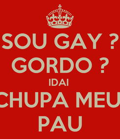 Poster: SOU GAY ? GORDO ? IDAI  CHUPA MEU  PAU