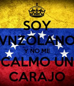 Poster: SOY VNZOLANO Y NO ME CALMO UN CARAJO