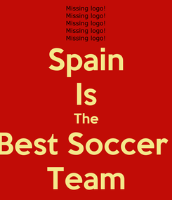 Poster: Spain Is The Best Soccer  Team