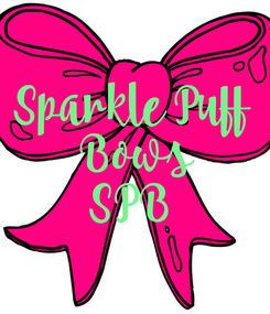 Poster: Sparkle Puff  Bows SPB