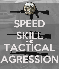 Poster: SPEED SKILL AND TACTICAL AGRESSION