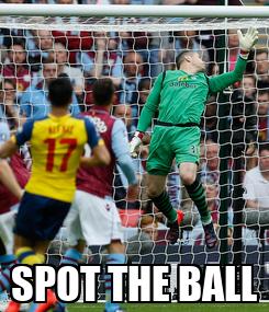 Poster:  SPOT THE BALL