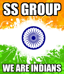 Poster: SS GROUP WE ARE INDIANS