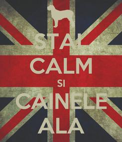 Poster: STAI  CALM SI CAINELE ALA
