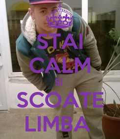 Poster: STAI CALM SI  SCOATE LIMBA