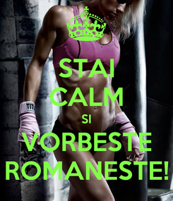 Poster: STAI CALM SI VORBESTE ROMANESTE!