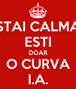 Poster: STAI CALMA ESTI DOAR O CURVA I.A.