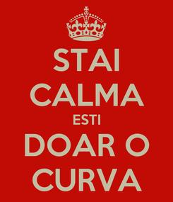 Poster: STAI CALMA ESTI DOAR O CURVA