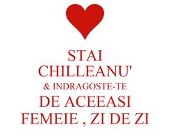 Poster: STAI CHILLEANU' & INDRAGOSTE-TE DE ACEEASI FEMEIE , ZI DE ZI