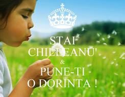 Poster: STAI CHILLEANU' & PUNE-TI O DORINTA !