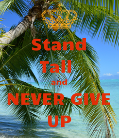 Poster: Stand Tall  and NEVER GIVE UP