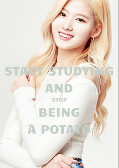 Poster: START STUDYING AND STOP BEING A POTATO
