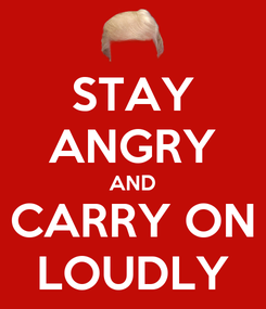 Poster: STAY ANGRY AND CARRY ON LOUDLY