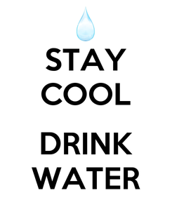 Poster: STAY COOL  DRINK WATER